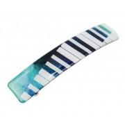 Barrette pour cheveux motif clavier de piano 9,2 cm (BARRETTE-PIANO)