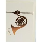 Carte de vœux motif cornet avec enveloppe 153*105mm (CARTE-CORNET)