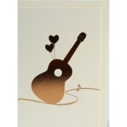 Carte de voeux motif guitare avec enveloppe 153*105 mm (CARTE-GUITARE)