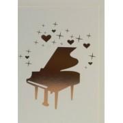 Carte de vœux motif piano avec enveloppe 153*105mm (CARTE PIANO)