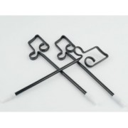 Stylo avec décoration croche - noir (STYLO-CROCHE)