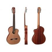 """Guitare classique 4/4 ARAGON série """"Fresh Art"""" Ligne silver finition mat pores apparents (AF-S635CECE) ***PRIX NET***"""